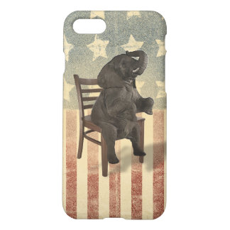 GOP Elephant Takes Over the Chair Funny Republican iPhone 8/7 Case