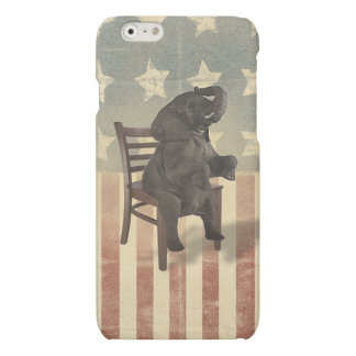 GOP Elephant Takes Over the Chair Funny Republican Matte iPhone 6 Case