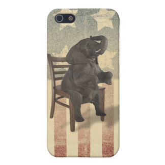 GOP Elephant Takes Over the Chair Funny Republican iPhone SE/5/5s Cover