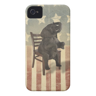 GOP Elephant Takes The Presidential Chair Funny Case-Mate iPhone 4 Cases