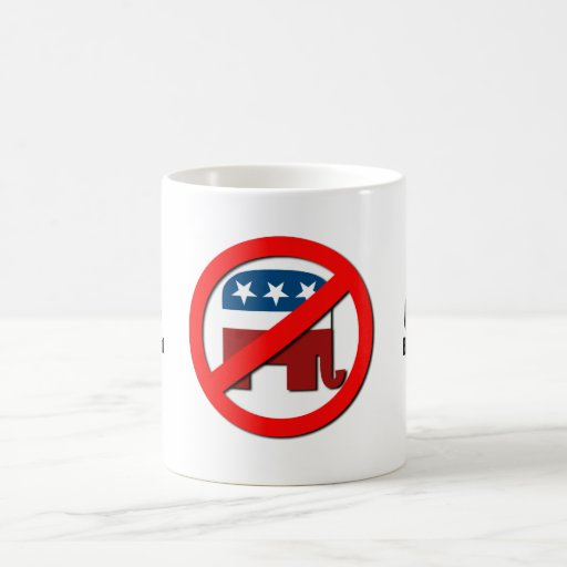 GOP equals Borrow and Spend Classic White Coffee Mug