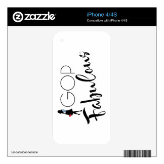 GOP Fabulous iPhone 4/4S Skin Skin For iPhone 4S