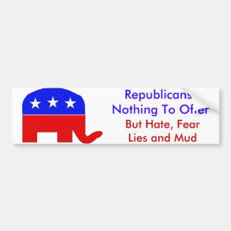 GOP Fearmongers Car Bumper Sticker