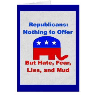 GOP Fearmongers Greeting Card