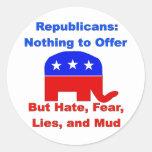 GOP Fearmongers Classic Round Sticker