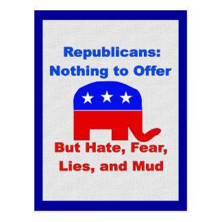 GOP Fearmongers Post Card