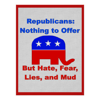 GOP Fearmongers Poster
