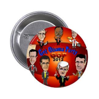 GOP Get Obama Party Pinback Button