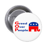 GOP - Greed Over People Pins