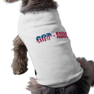 GOP = Greed Over Principle Pet Shirt version 2