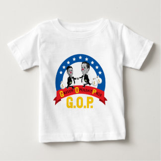 GOP-Greedy Opulent Pigs, Anti Romney, Kids T-Shirt