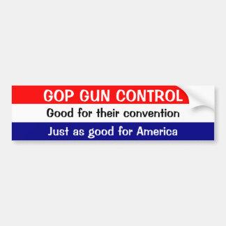 GOP GUN CONTROL: Good for their convention ... Bumper Sticker