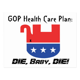 GOP Health Care Plan Postcard