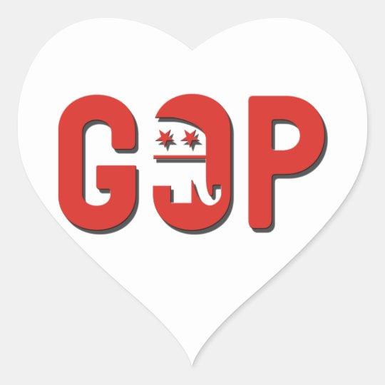 GOP HEART STICKER