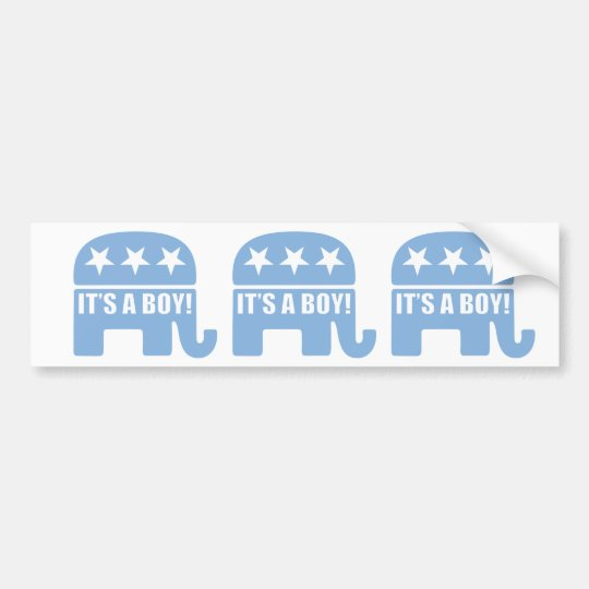 "GOP ""It's A Boy"" Bumper Stickers"