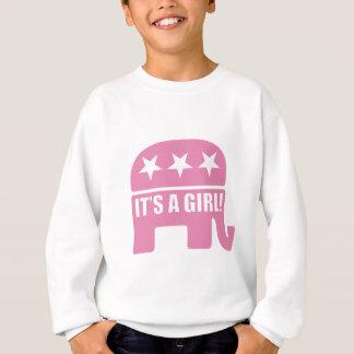 "GOP ""It's A Girl"" Youth Long Sleeve Sweatshirt"