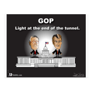 GOP Light at the End of the Tunnel Postcard