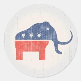 GOP Mammoth Logo Classic Round Sticker