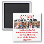 GOP Nine - 2012 Republican Primary Election Refrigerator Magnets
