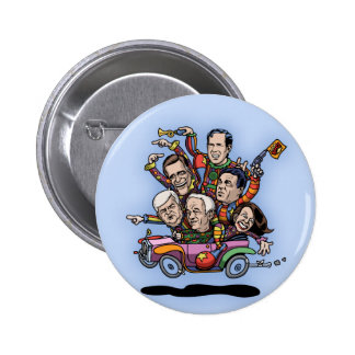 GOP Primary Car Pinback Button