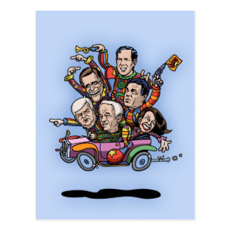 GOP Primary Car Postcard