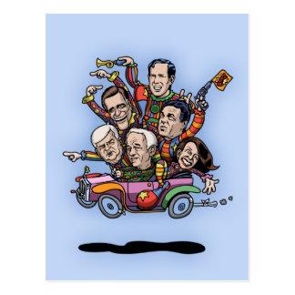 GOP Primary Car Postcard