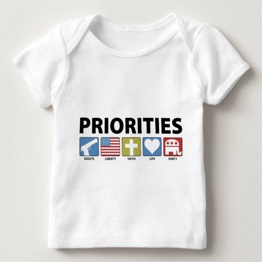 GOP Priorities Baby T-Shirt