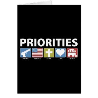 GOP Priorities Card
