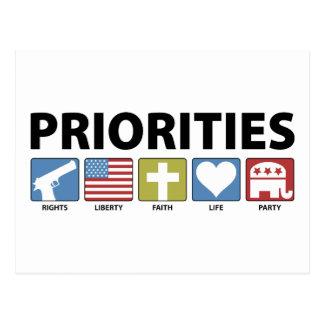 GOP Priorities Post Cards
