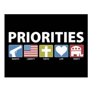GOP Priorities Postcard