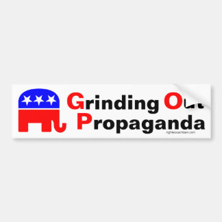 GOP: Pulido hacia fuera de propaganda Pegatina Para Auto