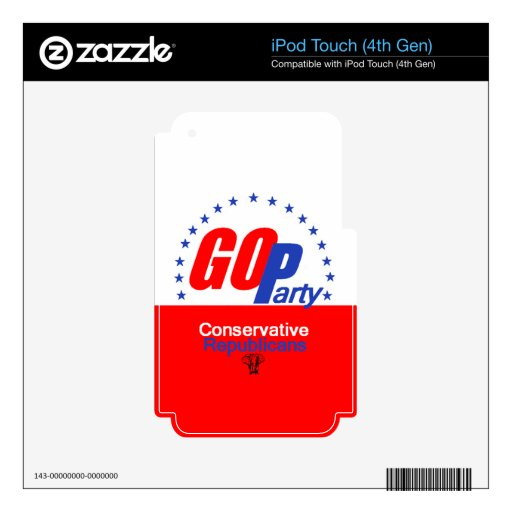 GOP REPUBLICAN iPod TOUCH 4G DECAL