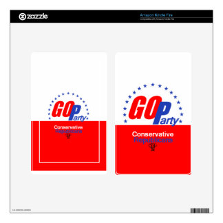 GOP REPUBLICAN KINDLE FIRE DECAL
