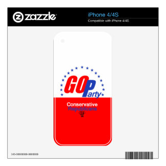 GOP REPUBLICAN SKINS FOR THE iPhone 4S