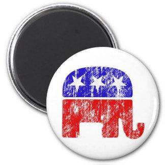 GOP republicano del elefante del vintage Imán Redondo 5 Cm