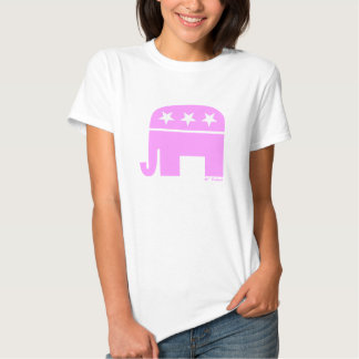 GOP republicano orgulloso del elefante rosado de Playera