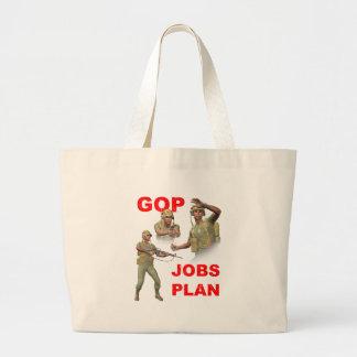 GOP, Republicans, Jobs Plan Large Tote Bag