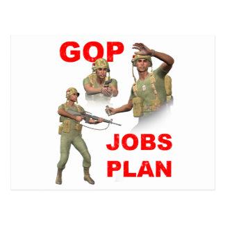 GOP, Republicans, Jobs Plan Postcard