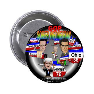 GOP Sober Wednesday 2 Inch Round Button