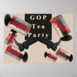GOP/TeaParty que golpea el poster de las latas con
