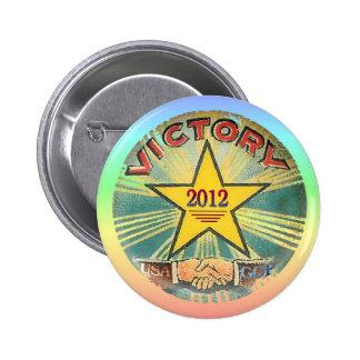 GOP Victory 2012 Pinback Button