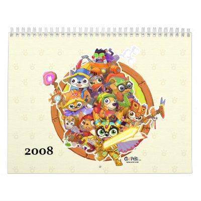 GoPets Crafting Calendar 2008