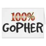 Gopher 100 Percent Card