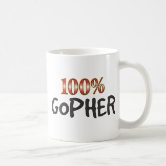 Gopher 100 Percent Coffee Mug