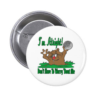 Gopher and the Golfball Pinback Button