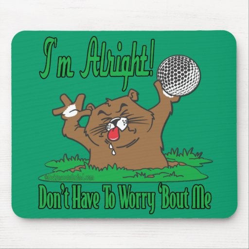 Gopher and the Golfball Mouse Mat