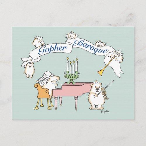 GOPHER BAROQUE postcard by Sandra Boynton