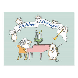 GOPHER BAROQUE postcard by Sandra Boynton