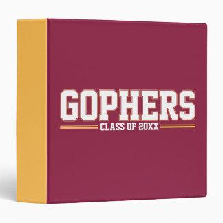 """Gopher con año de la clase carpeta 1 1/2"""""""