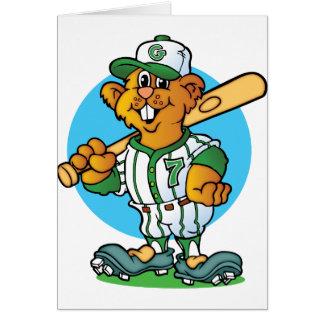 Gopher del béisbol tarjeta de felicitación